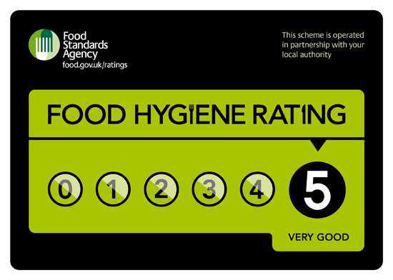 An image of a food hygiene sticker.